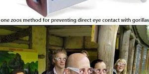No eye contact.