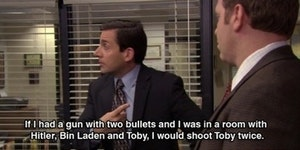 Michael Scott delivers a perfect burn.