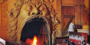 I could warm myself by this 16th century Italian fire place.