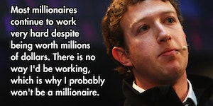 Millionaires Keep Working