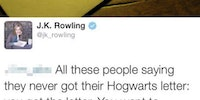 J. K. Rowling On Your Hogwarts Letter