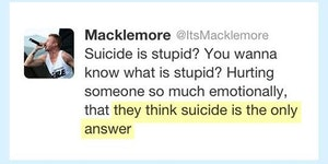 Macklemore Saying It Like It Is