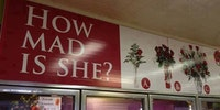 Best sign at a florist shop ever...