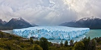 Massive blue ice of Perito Moreno Glacier in Patagonia, Argentina