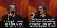 Mitch Hedberg on golf.