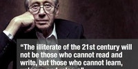 The illiterate of the 21st century.