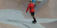 This is what happens if you ask a Canadian Mountie if he can skateboard.
