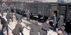 Just a bunch of Nazis having a snowball fight.