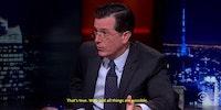 Colbert Interviewing Morgan Freeman on