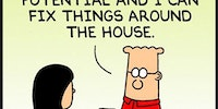 Dilbert Knows What's Up