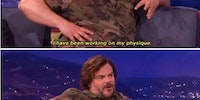 Jack Black explains the perils of trying to get in shape.
