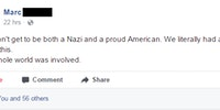 You can't be a Nazi AND a proud American...