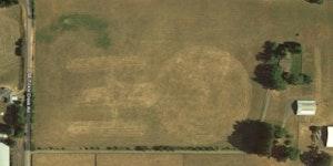 A farm in Oregon has the Enterprise tilled into it