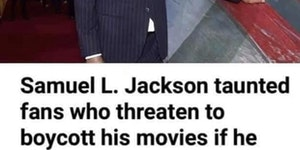 Samuel L. Jackson is not too worried about snowflakes.