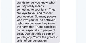 Text exchange between Kanye and John Legend.