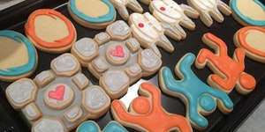 I baked some Portal cookies!