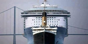Titanic vs present day ocean liner.