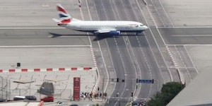 Gibraltar International Airport, The worlds only airport runway intersecting a road.
