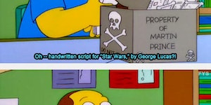 Comic Book Guy could work at Pawn Stars