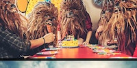 Spending a day with Chewbacca.