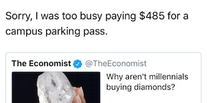 We make headlines. We pay our bills. F your diamonds.