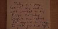 Best birthday note ever.