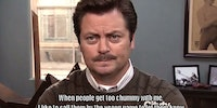 Ron Swanson gets it.