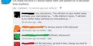 Jedi Powers vs DeLorean time machine...