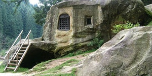 A house carved in stone.
