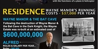 The cost of being Batman.