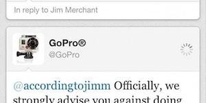 GoPro advises against that...