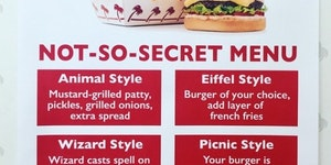 In-N-Out secret menu.