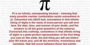 A word about Pi.