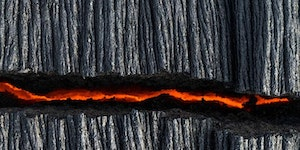 A crack in the lava
