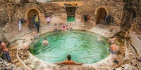 A Roman bathhouse still in use after 2,000 years in Khenchela, Algeria.