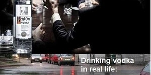 Drinking vodka in real life...