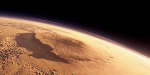 Mars' Olympus Mons, the tallest mountain in the solar system.
