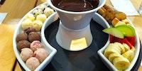 Ice cream ball fondue.