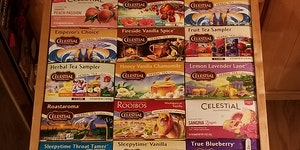 Incredibly satisfying drawer of teas'.