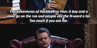 Ron Swanson's book spoilers.