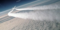 F-15 Eagles scramble to intercept a pair of MiG-29s over the Bering sea - c.1989