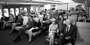 Economy Class Seating In The Late 1960's