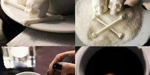 Bone shaped sugar cubes