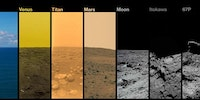 A picture of every extraterrestrial body that robots have landed on and photographed