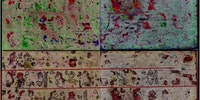500 year old Mayan manuscript reconstructed with hyperspectral imaging