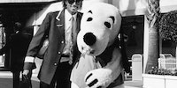 Michael Jackson and Snoopy, circa 1984