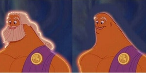 Zeus before and after shave.