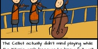 The cellist.