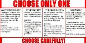 Choose carefully!