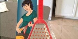 The shredder cheese grater.